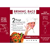 Pack of TWO Extra Large Brining Bags designed for Turkey or Hams