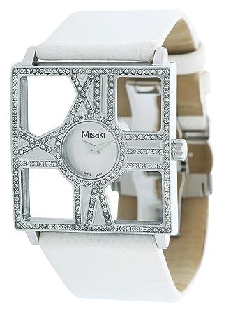 Amazon.com: Misaki Women Watch White PCUWDIVA: Watches