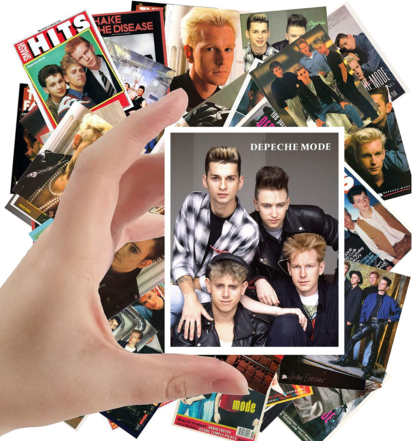 """Large Stickers (24pcs 2.5""""x3.5"""") DEPECHE MODE Electronic Music Posters Photos Vintage Magazine covers"""