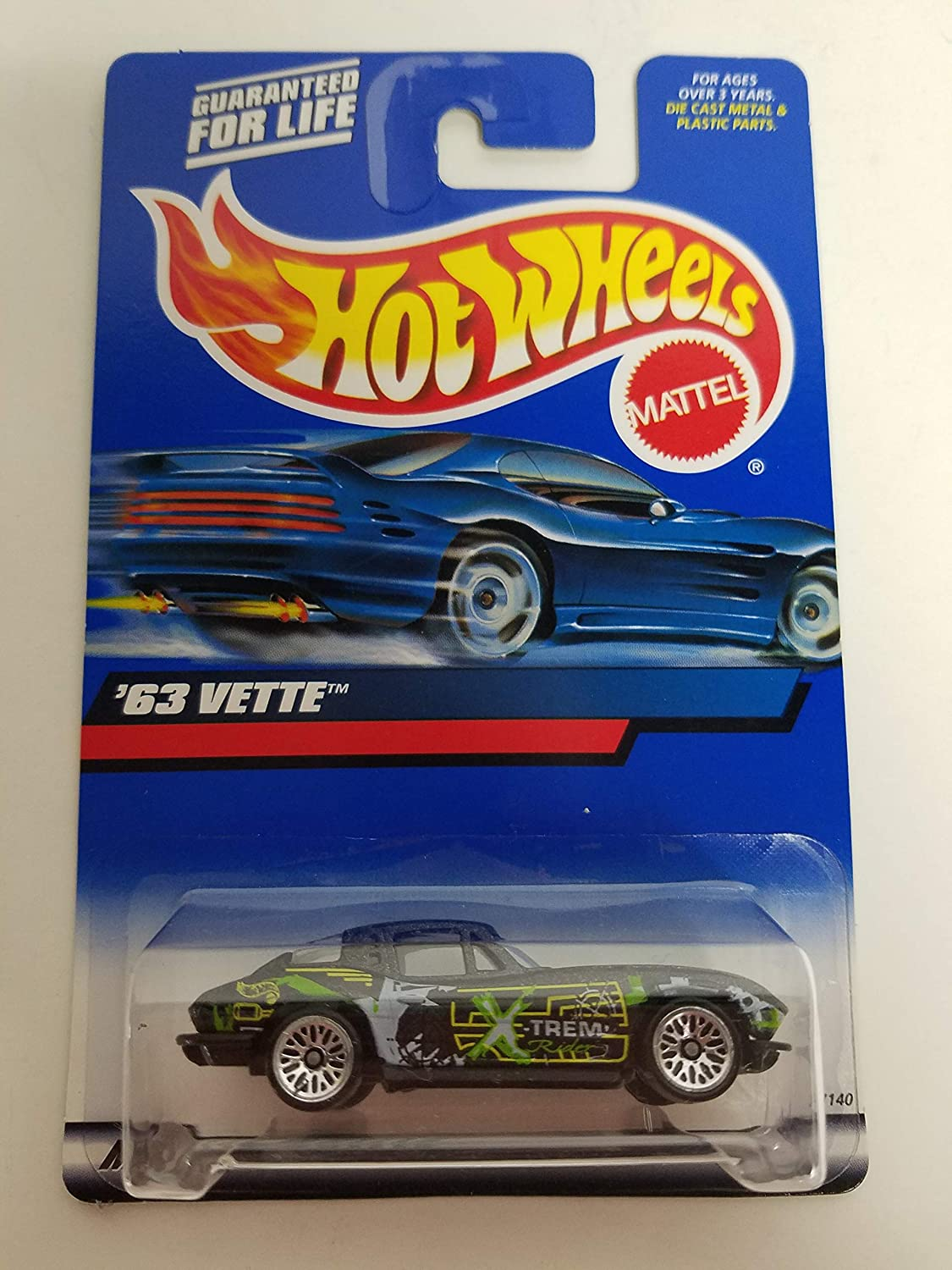 63 Vette Corvette Stingray 2000 Hot Wheels 1//64 scale diecast car No 174