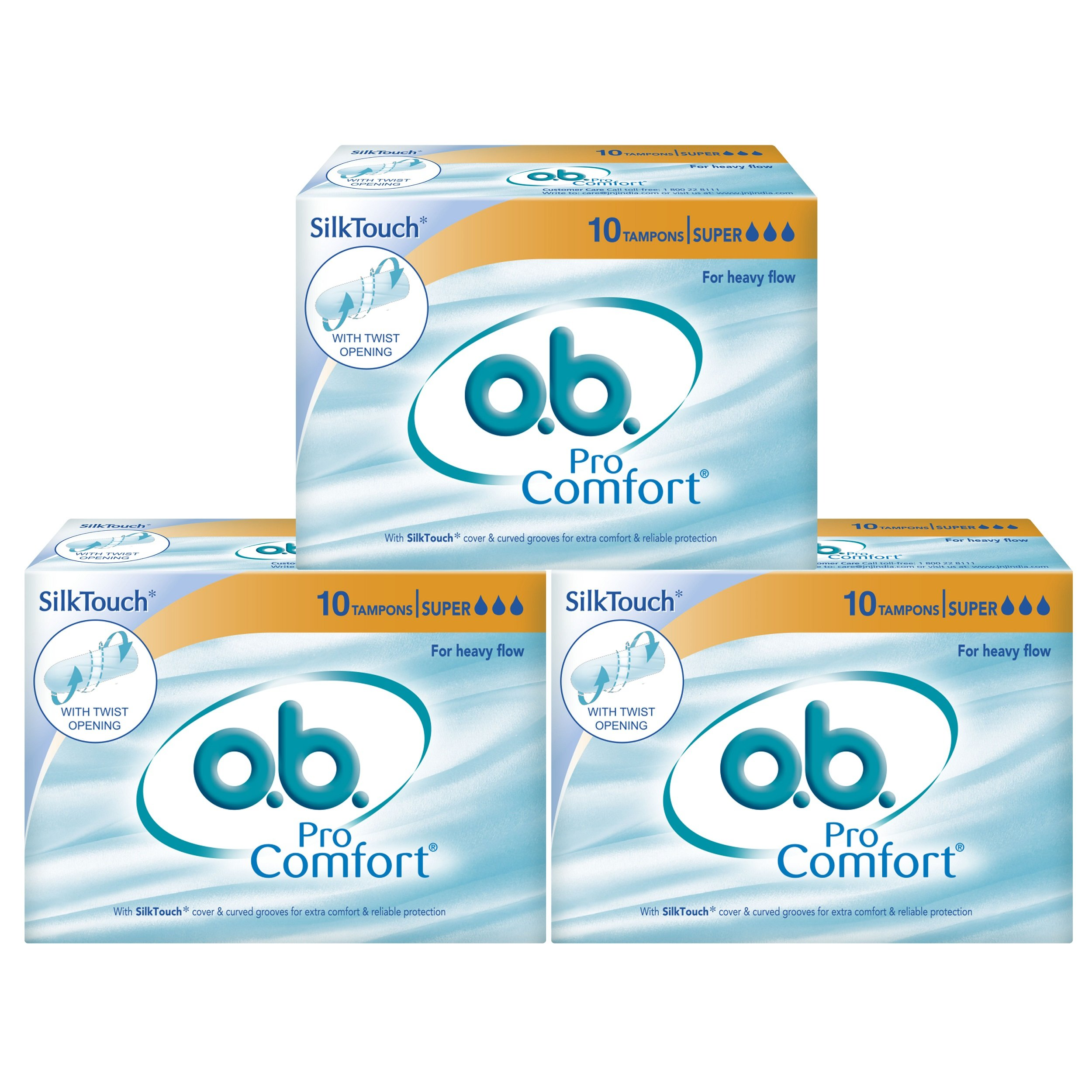 O.B Pro Comfort Super Tampons - 10 Pieces (Heavy Flow, Pack of 3) product image