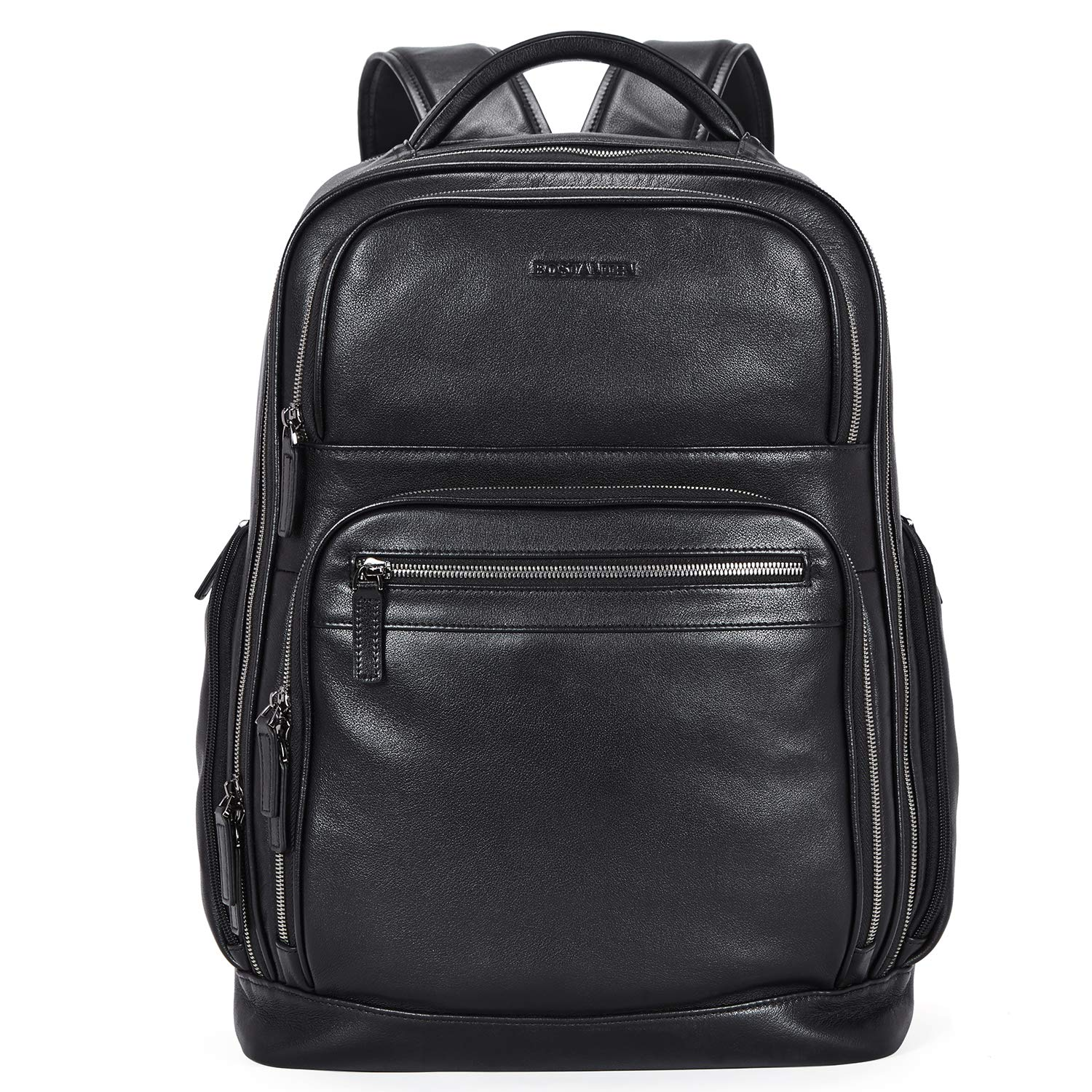 """BOSTANTEN Leather Backpack College 15.6"""" Laptop"""