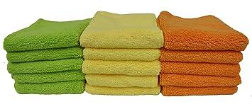 Detailers Preference Eurow de microfibra limpieza toallas de baño de casa y coche de 3 colores