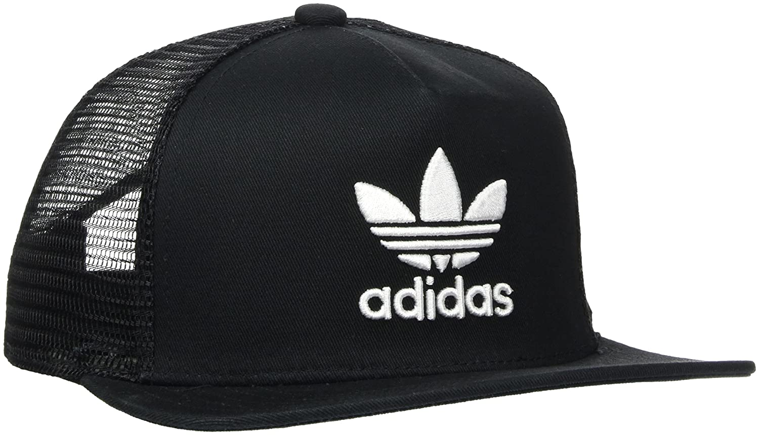 1a58de3e adidas Kid's Trefoil Trucker Cap, Black/White, One Size: Amazon.co.uk:  Sports & Outdoors