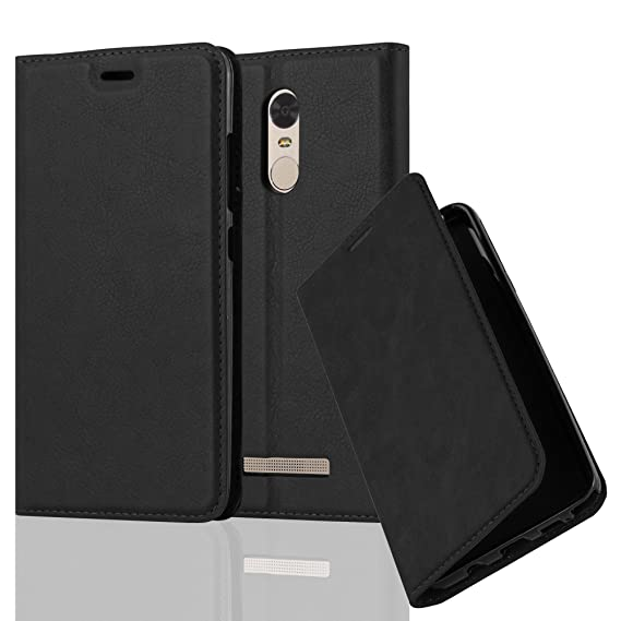 buy online c3ddf cb444 Cadorabo Book Case Works with Xiaomi RedMi Note 3 in Night Black – with  Magnetic Closure, Stand Function and Card Slot – Wallet Etui Cover Pouch ...