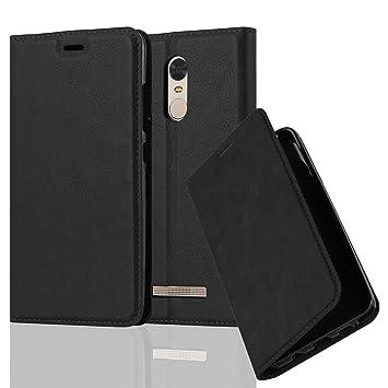 Cadorabo Funda Libro para Xiaomi RedMi Note 3 en Negro Antracita – Cubierta Proteccíon con Cierre