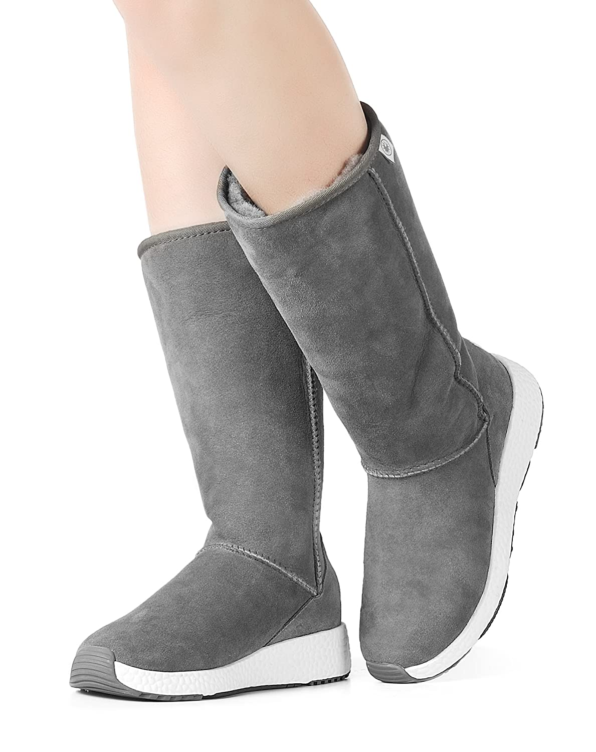 Aumu Pull Suede On Classic Suede Pull Winter Boots B07G5YR79X Snow Boots 1dcac9