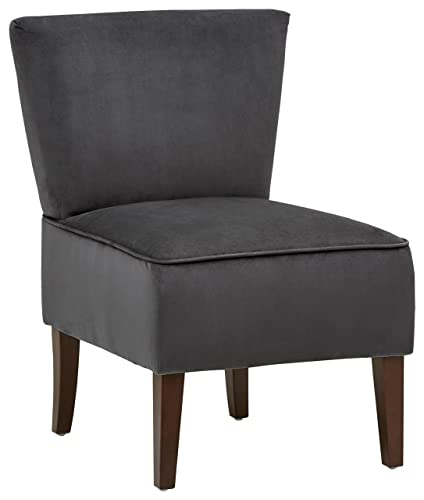 Rivet Ashworth Armless Velvet Accent Chair