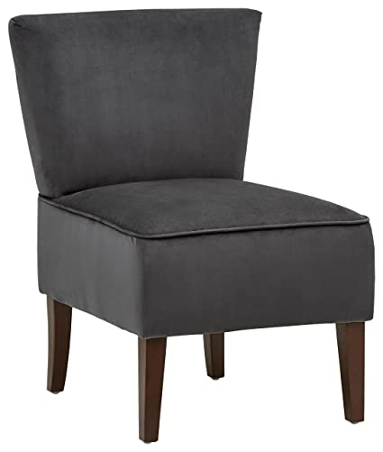 Excellent Rivet Ashworth Armless Velvet Accent Chair 21 6W Steel Grey Gmtry Best Dining Table And Chair Ideas Images Gmtryco