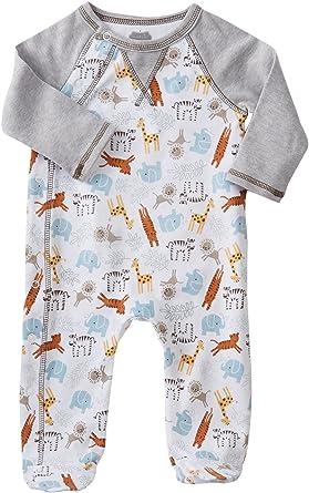 b7bbabcf7b Amazon.com  Mud Pie Baby Boy s Go Wild Animal Footed Sleeper (Infant) Gray  Jumpsuit  Clothing