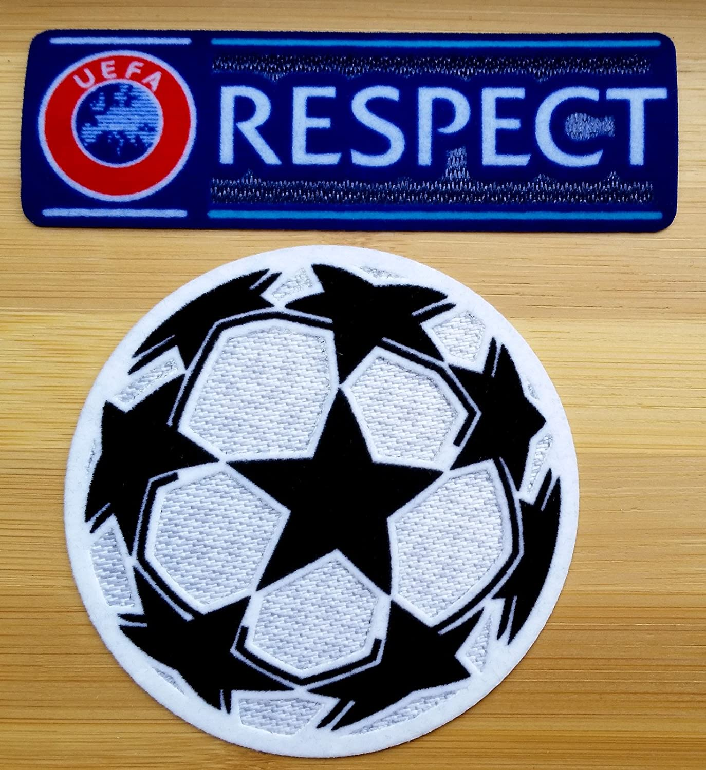 UEFA Champions League Iron-On Soccer Patch and Respect Iron-On Patch