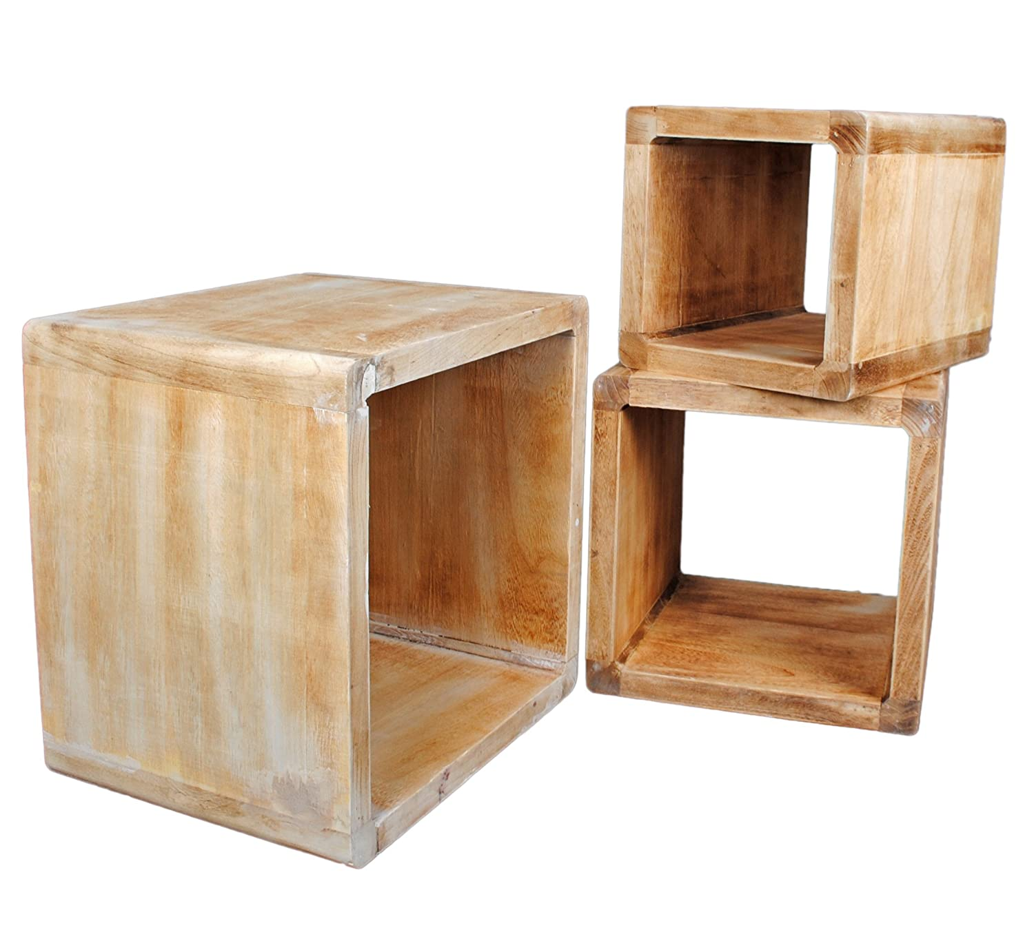 Top lot de cube design table de chevet tagre du salon for Prix maison en bois massif