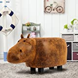 Guteen Upholstered Ride-on Toy Seat Ottoman