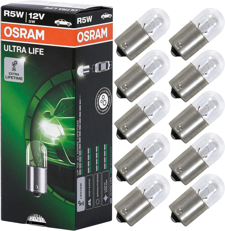 OSRAM 5007ULT Ultra Life R5W Bombilla para Luz de Posición, 12V