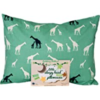 Little Sleepy Head Toddler Pillowcases - Organic Collection (Giraffe Family - Teal)