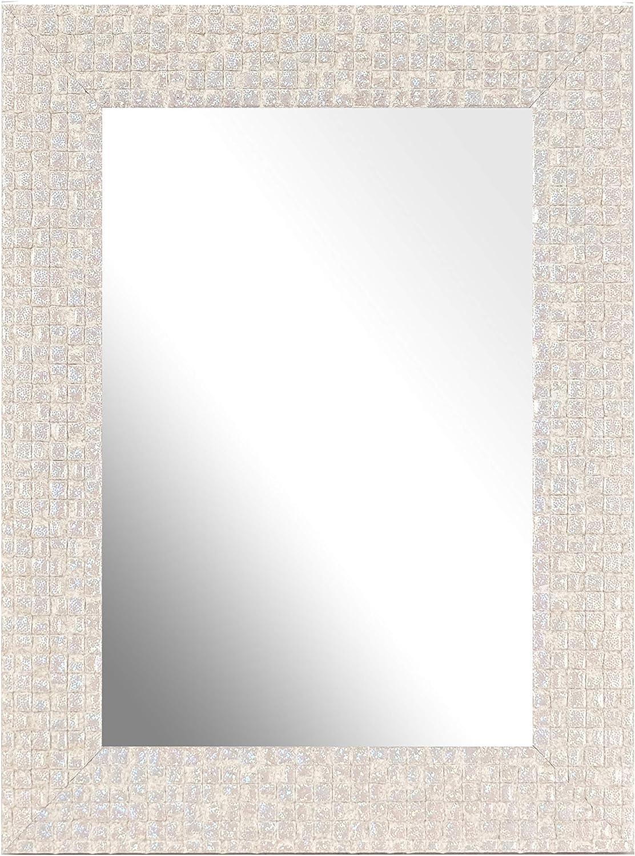 Inov8 Framing British Made Mirror Frame Mosaic Cream A4