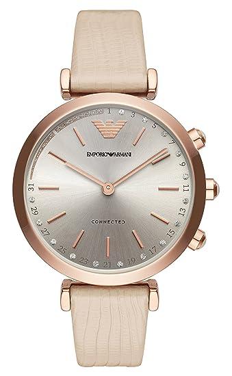 7ed456459850 Emporio Armani Reloj Analogico para Mujer de Cuarzo con Correa en Cuero  ART3020  Amazon.es  Relojes