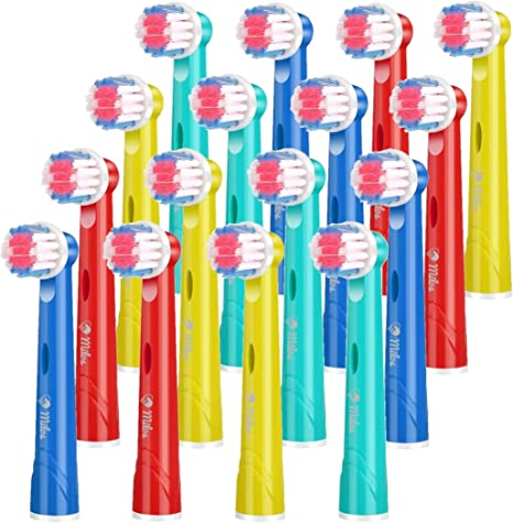 Milos Kids Toothbrush Heads Compatible with Oral B Kids Toothbrush Heads 16 Pack of Compatible Oral B Toothbrush Head KidsJunior Heads Compatible