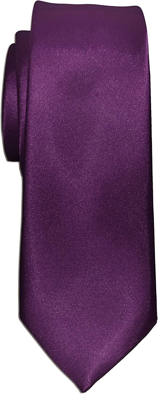 Cravatta Stretta Slim in Seta Tinta Unita Uomo Larghezza cm 6 Remo Sartori Made in Italy