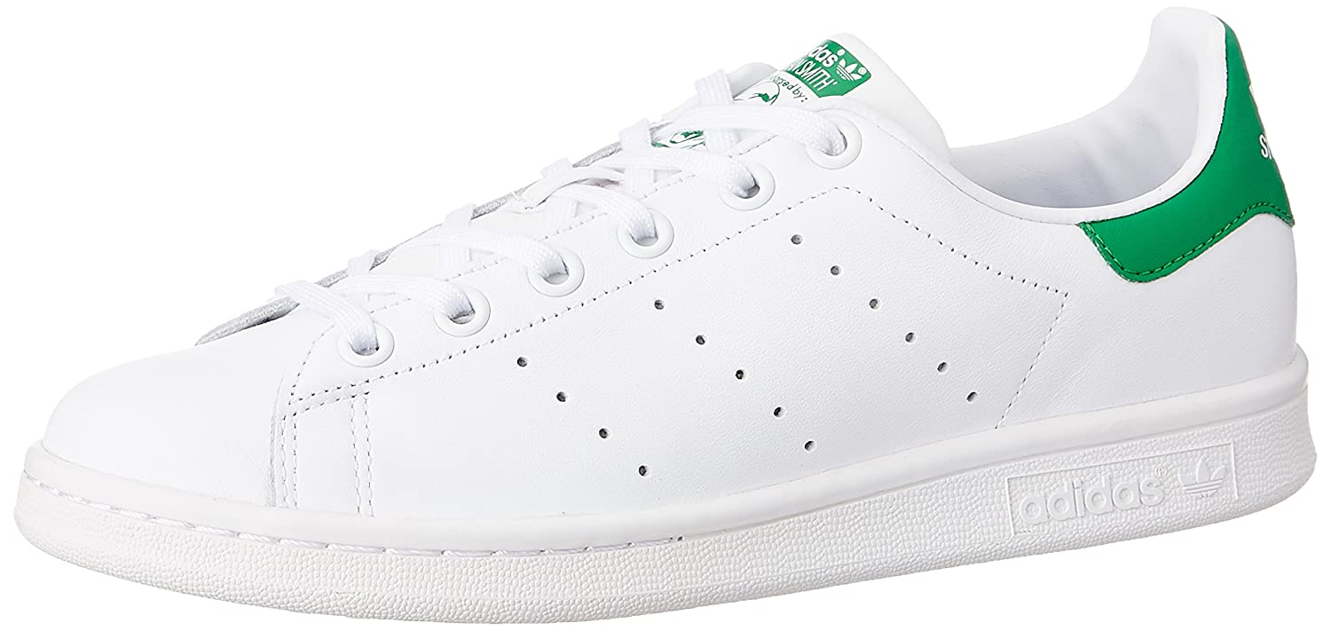 7529f6941 adidas Stan Smith, Unisex Kids' Running Shoes, Ftwr White/Ftwr White/Green,  5 UK: Amazon.ae
