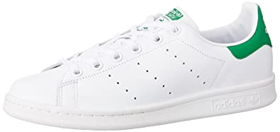 nouveau concept b7f86 ad7c2 Adidas - Stan Smith Junior M20605 - Baskets mode Enfant / Fille, Blanc, 38  2/3 EU