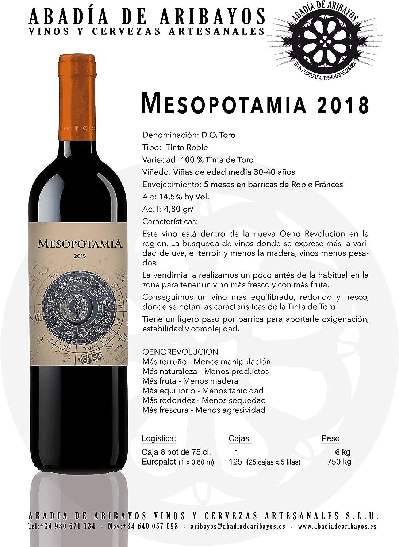 Vino tinto MESOPOTAMIA Roble 2018 (1bot. x 75cl.) - 100 ...