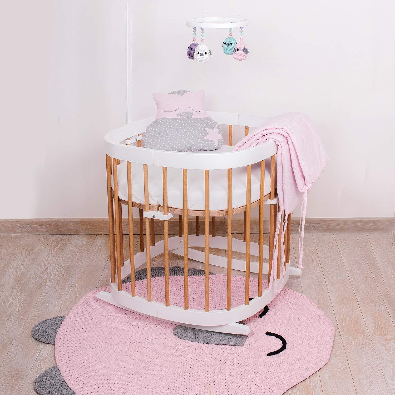 Schaukel Schaukelfunktion Bettschaukel Baby Einschlafhilfe tweeto Babybett Wippe Wiegekufen buche