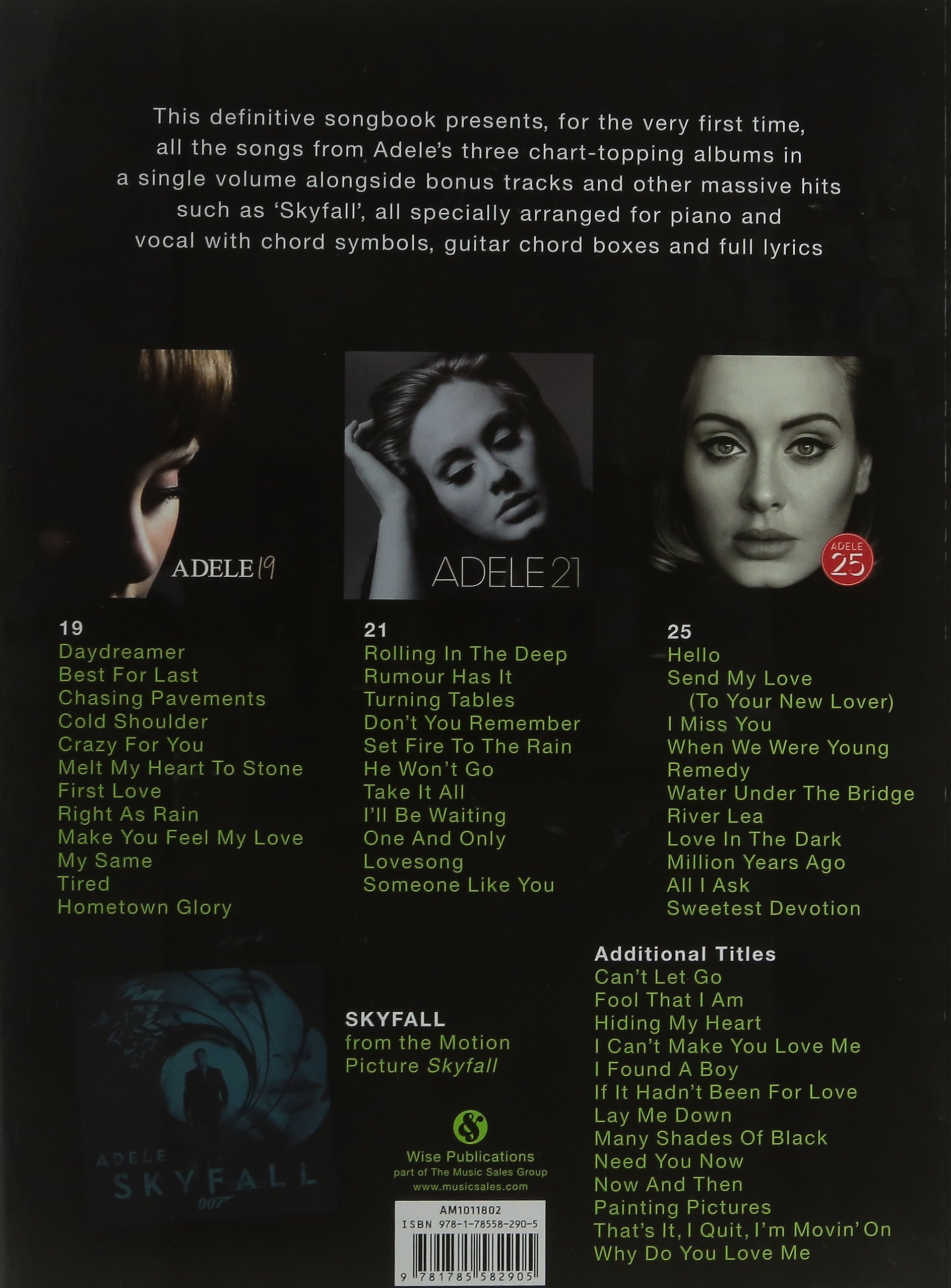 Adele The Complete Collection Amazon Adele 9781785582905