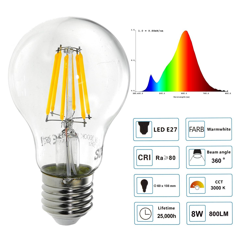 Pack of 5 SDK LED Bulb E27 8 W 800Lumen LED Bulb E27 70 W