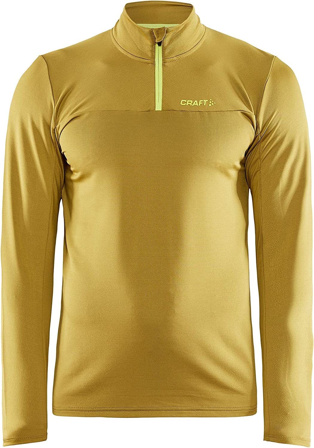 Craft Men's Core Gain Midlayer, Half Zip Jacket for Fall and Winter Days, Water-Repellent Brushed Fabric