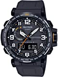 Casio Men's PRO Trek Stainless Steel Quartz Watch with Resin Strap, Black, 23.5 (Model: PRW-6600Y-1A9CR)