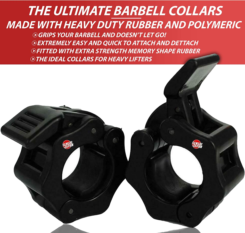 Senshi Japan 50 mm Olympic Barbell Collars PAIR Spring Collar Dumbbell Spin lock