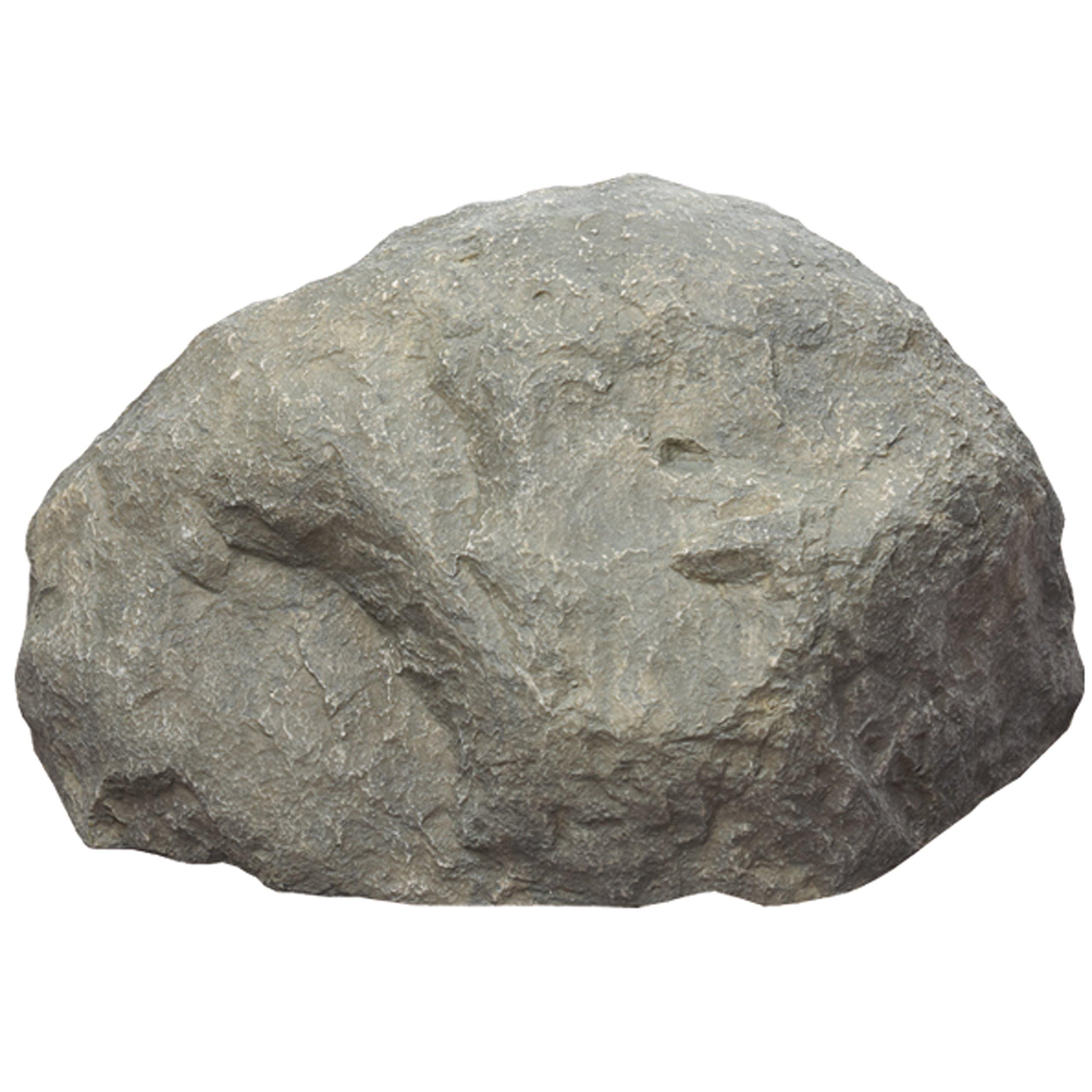 Outdoor Essentials Medium Faux Rock, Gray