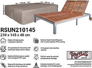 Raffles Covers NW-RSUN210145 - Funda para Tumbona Doble (210 x 145 x 40 cm, Cubierta para Tumbona, Funda para Cama de Sol, Cubierta Exterior para Cama de Playa o Tumbona de Playa)