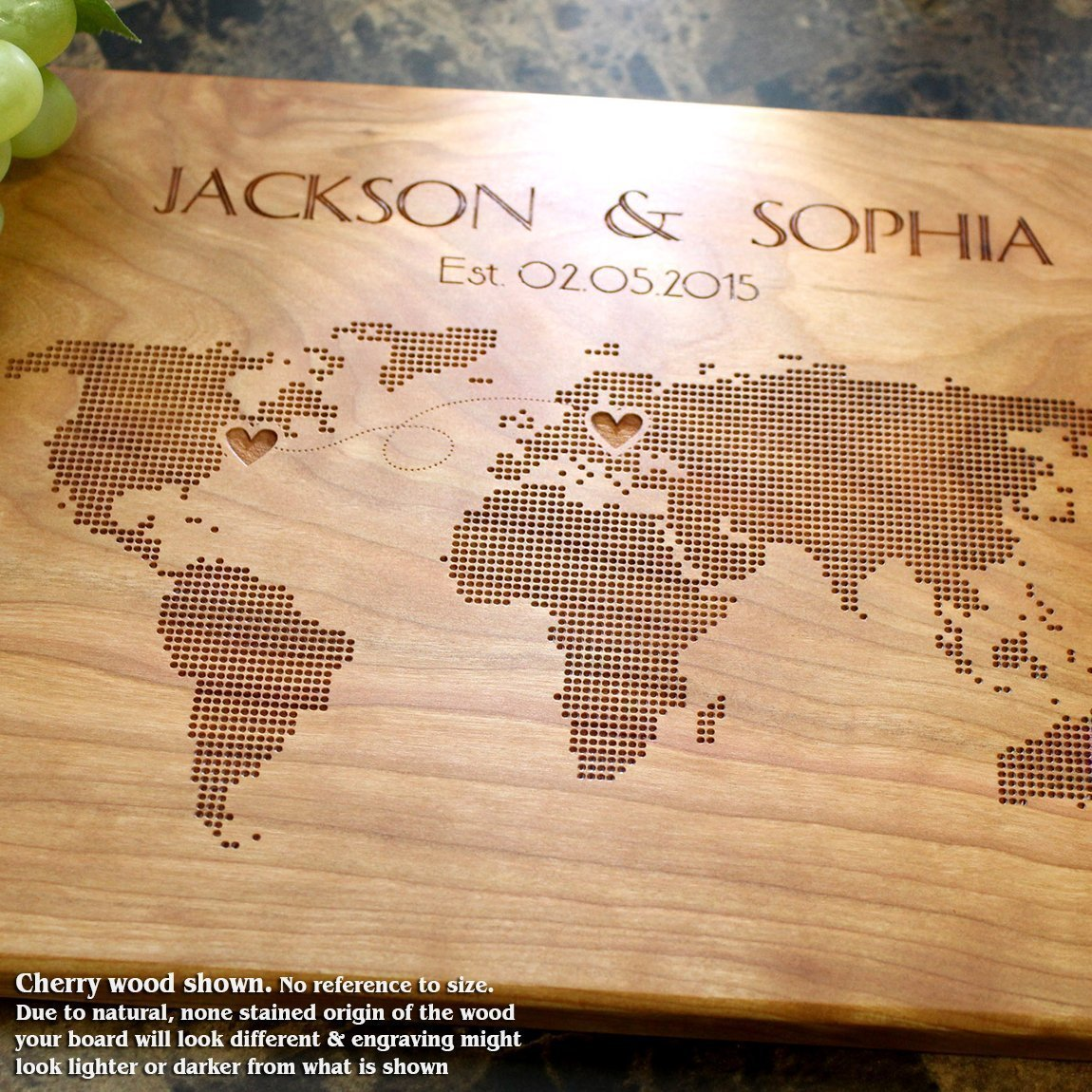 Personalized Cutting Board, Custom Keepsake, Wedding, Anniversary, Engagement, Housewarming, Birthday, Corporate, Closing Gift #605