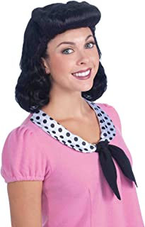 Forum Novelties Women's 40's Housewife Lady Costume Wig Black One Size Forum Novelties Costumes 68217