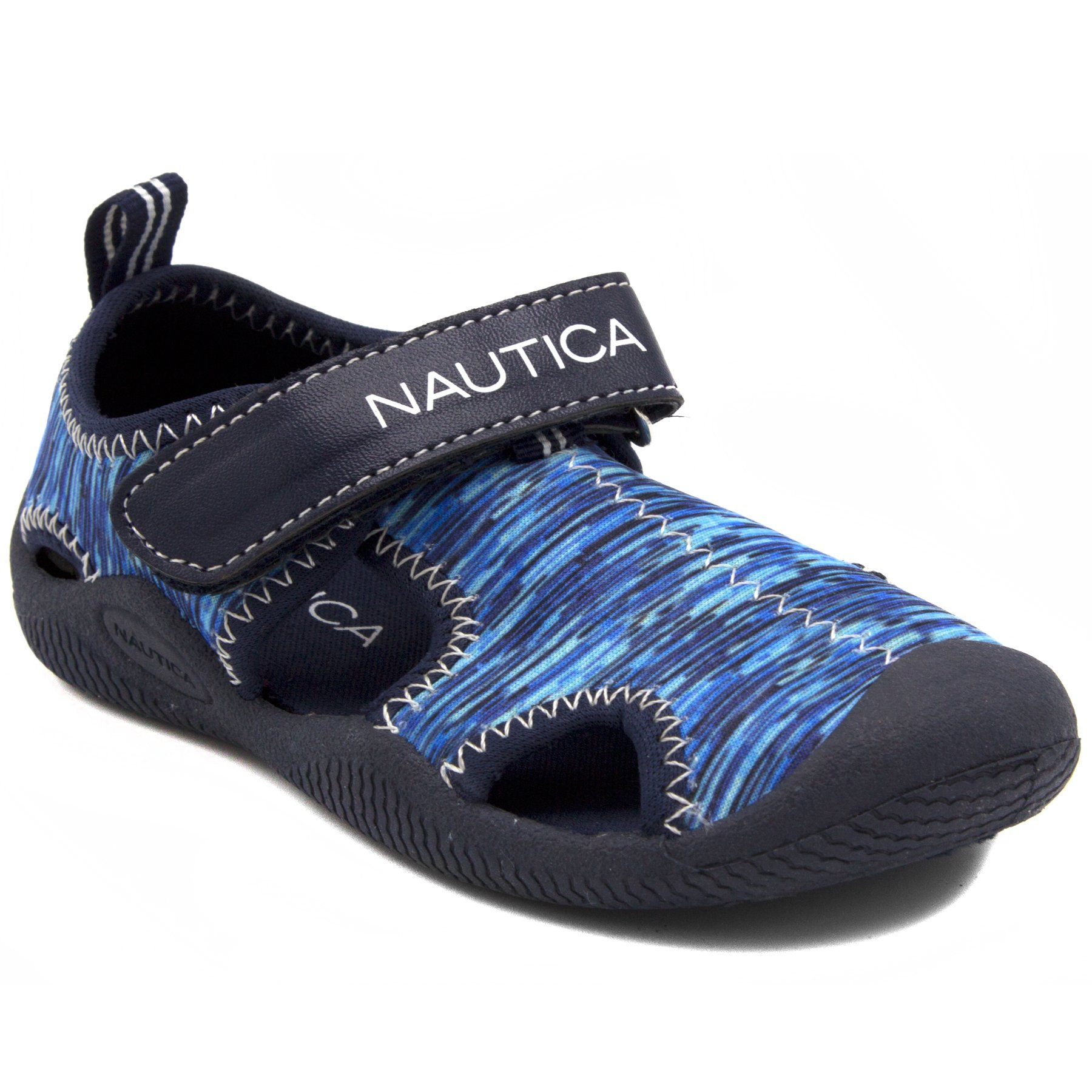 Nautica Kids Kettle Gulf Protective Water Shoe,Closed-Toe Sport Sandal-Blue Multi 2-5