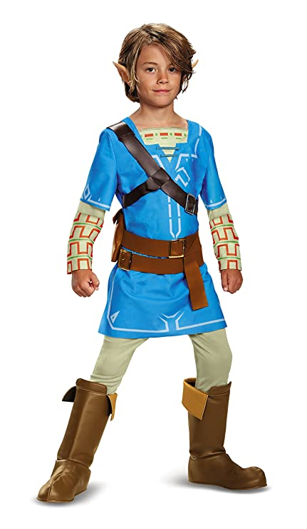 Buy Link Breath Of The Wild Deluxe Costume Blue Large 10