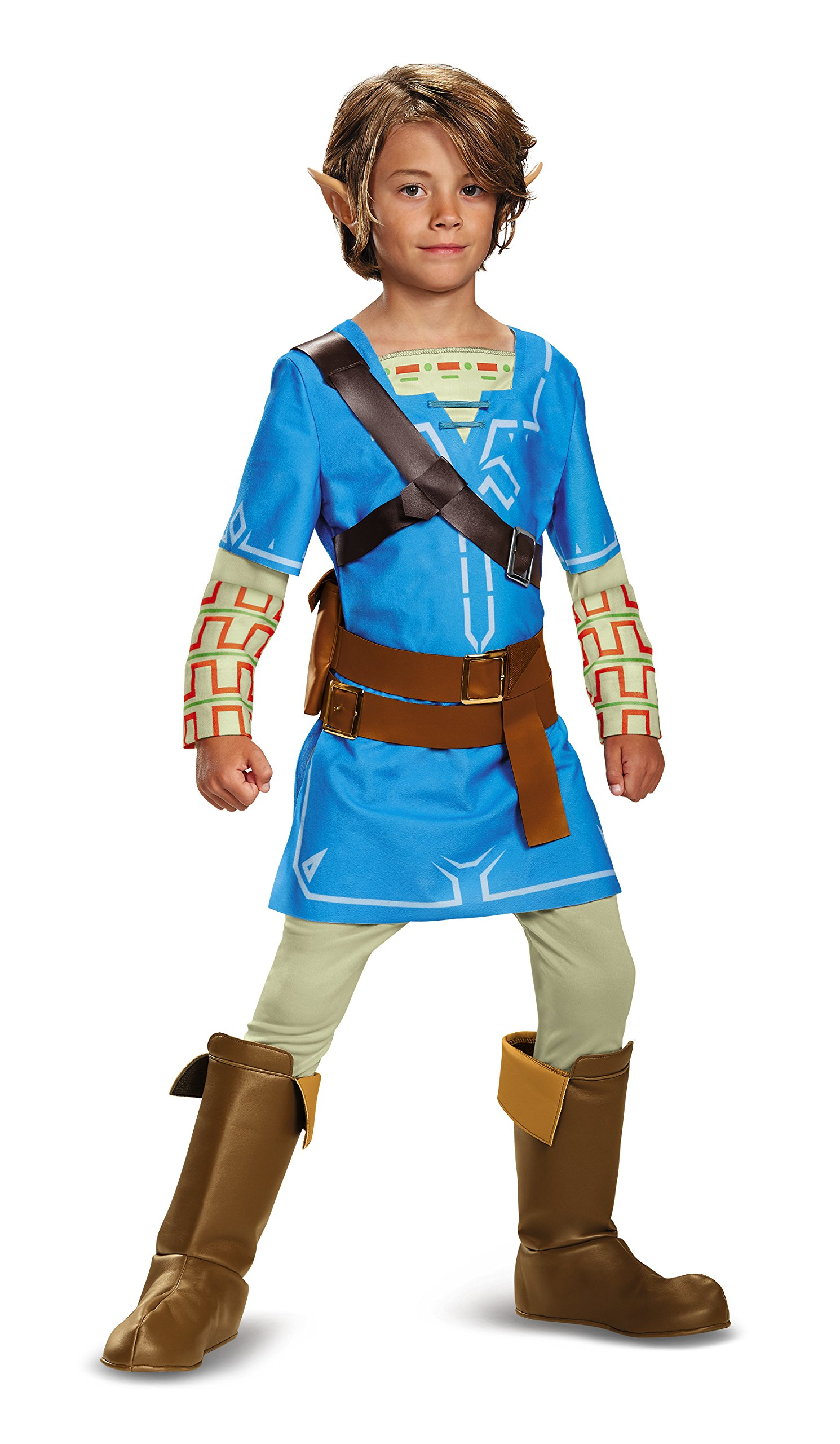 Disguise Link Breath The Wild Deluxe Costume, Blue, Small (4-6)