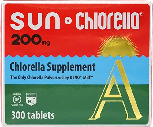 SUN CHLORELLA – Chlorella Supplement, Vitamin-Enriched and Vegan-Friendly Tablets 200 Mg – 300 ct