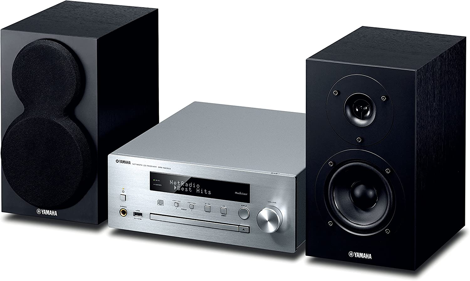 Yamaha MusicCast CRXN470D Compact Audio System with Built in Wifi Airplay /& Bluetooth Black