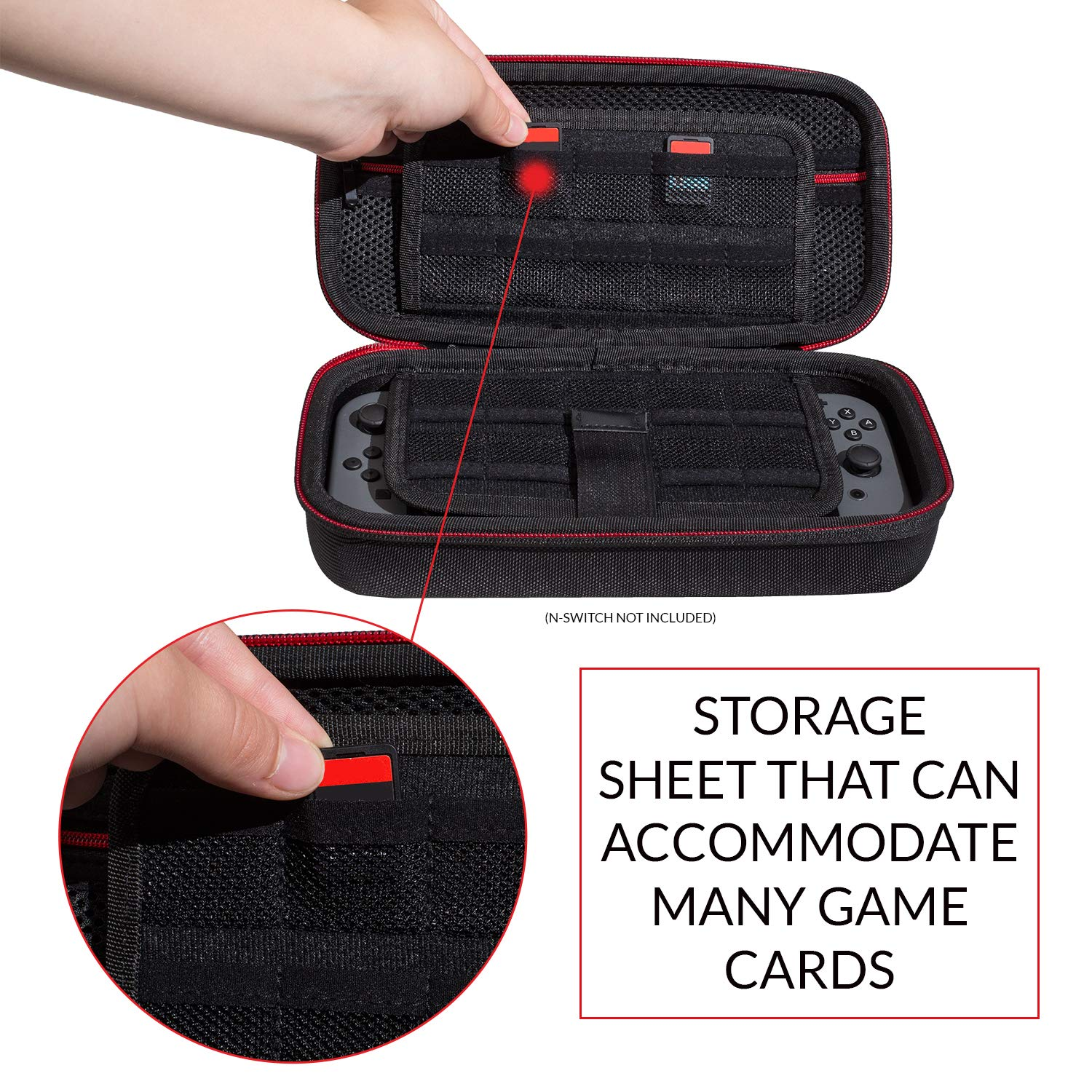 Protective Carrying Case for Nintendo Switch Accessories - Premium Quality Hard Cases Travel Protective Game Cover Carry Bag by EVORETRO