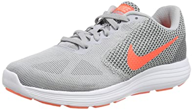 official photos 2465d 1b842 Nike Nike Revolution 3, Damen Laufschuhe, Chaussures de course femme, Grau  (Wolf