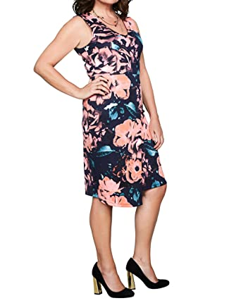 b481e8205 JD Williams Womens Lorraine Kelly Print Scuba Wrap Dress: Amazon.co.uk:  Clothing