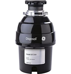 General Electric GFC720V 3/4 Horsepower Deluxe Continuous Feed Disposall Super Capacity Food Waste Disposer, Black