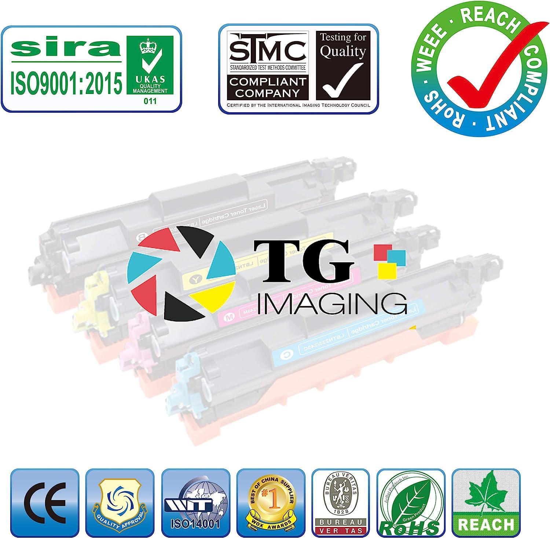 Compatible TN225 TN221 Toner Cartridge Plus DR221CL Drum Unit for Brother HL3170CDW Sold by TG Imaging 9-Pack, Toner+Drum Set MFC9130CW Printer