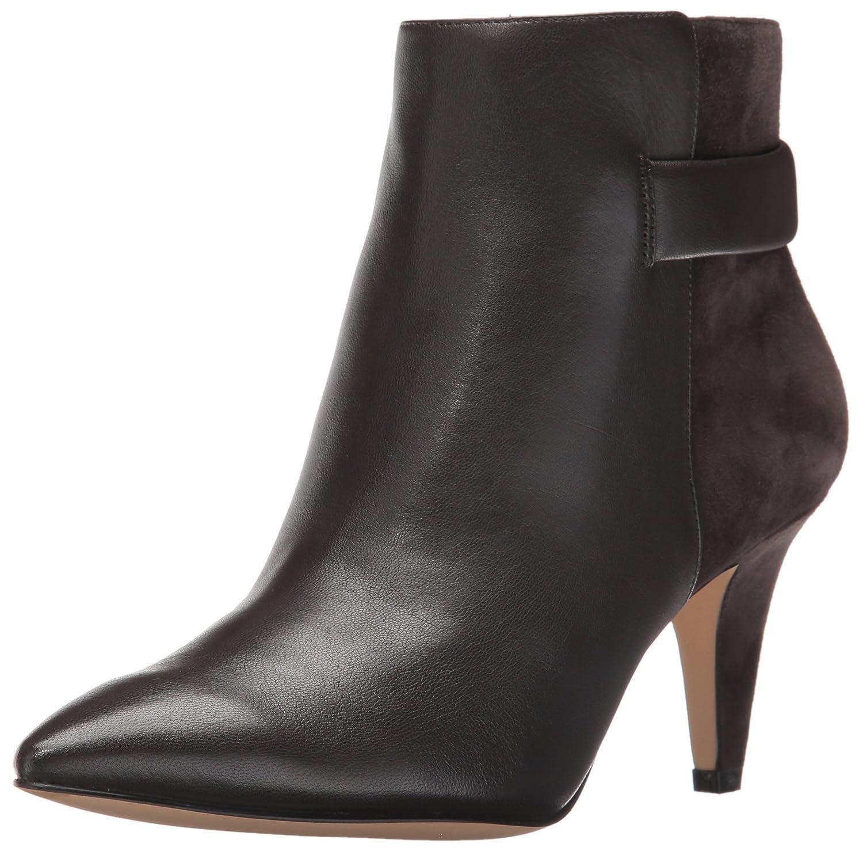 Nine West Women's Jaison Leather Ankle Bootie B01EXXIM6S 10.5 M US|Dark Grey