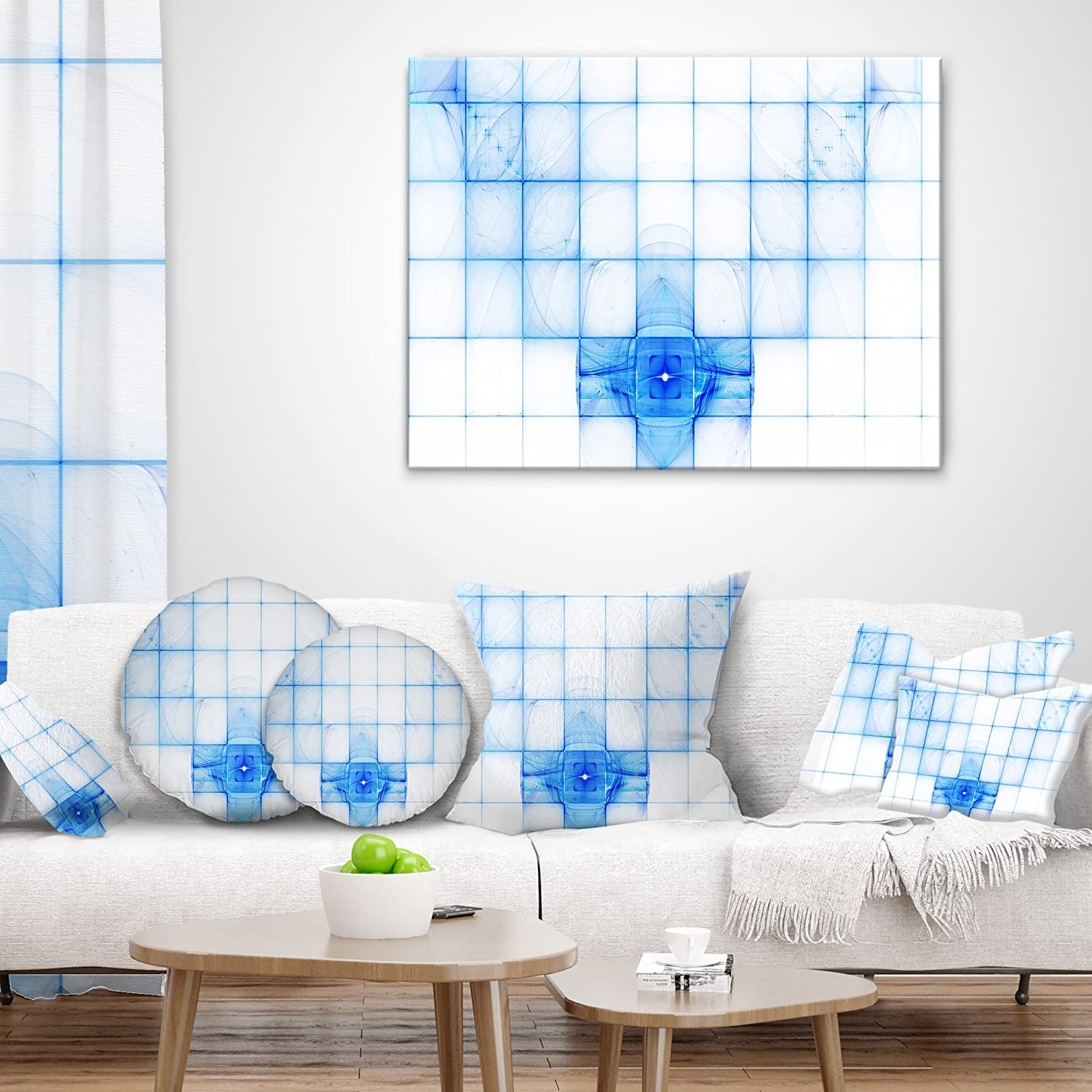 Sofa Throw Pillow 26 In In Designart Cu16063 26 26 Bat Outline On Radar Screen Abstract Cushion Cover For Living Room X 26 In Throw Pillow Covers Decorative Pillows Inserts Covers
