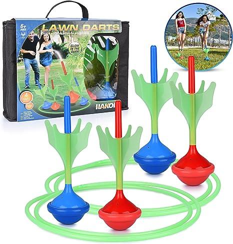 Lawn Darts Beach /& Backyard Game 4 Darts 2 Rings EASY SETUP /& instructions