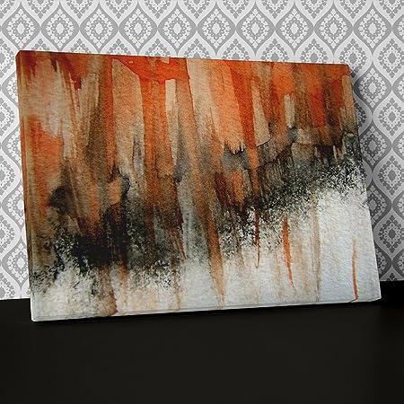 Modern Orange Black Graffiti Canvas Wall Art Abstract